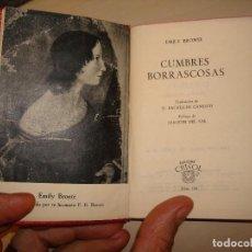 Libros de segunda mano: EMILY BRÖNTE. CUMBRES BORRASCOSAS. AGUILAR. CRISOL 199.. Lote 112544043