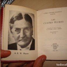 Libros de segunda mano: ALFRED EDWARD WOODLEY MASON. LAS CUATRO PLUMAS. AGUILAR. CRISOL 349.. Lote 112546595