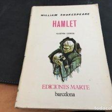 Libros de segunda mano: HAMLET SHAKESPEARE ED. MARTE ILUSTRA COBOS 1ª EDICION NUMERADA PAPEL PERGAMINO (LB33). Lote 113091359