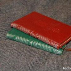 Libros de segunda mano: VINTAGE - LOTE DE 2 LIBROS COLECCIÓN CRISOL - AGUILAR - FLOR DE DURAZNO Y MARTÍN FIERRO - HAZ OFERTA. Lote 113205099