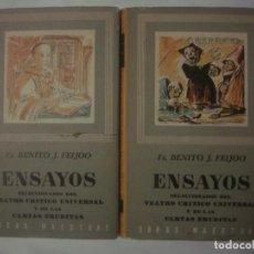 Libros de segunda mano: LIBRERIA GHOTICA. FR.BENITO J.FEIJOO. ENSAYOS.SELECCIONADOS DEL TEATRO CRITICO UNIVERSAL.1968.2TOMOS. Lote 113282771