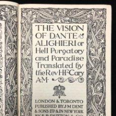 Libros de segunda mano: THE VISION OF DANTE ALIGHIERI. 1915. Lote 113487771