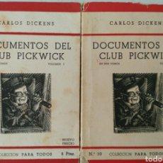 Libros de segunda mano: CARLOS DICKENS PAPELES PÓSTUMOS DEL CLUB PICKWICK. Lote 113579939