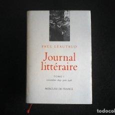 Libros de segunda mano: JOURNAL LITERAIRE DE PAUL LETAUD I. Lote 114341843
