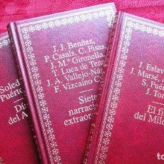 Libros de segunda mano: AUTORES EXTRAHORDINARIOS; 3 VOLUMENES, ORO, GUAFLEX,TAPA DURA.GIRONELLA,TENA,NAGERA,VIZCAINO,BENITEZ. Lote 114864511