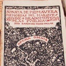 Libros de segunda mano: SONATA DE PRIMAVERA.. DON RAMON DEL VALLE INCLAN MADRID 1940. IM RIVADENEIRA.. Lote 114938715