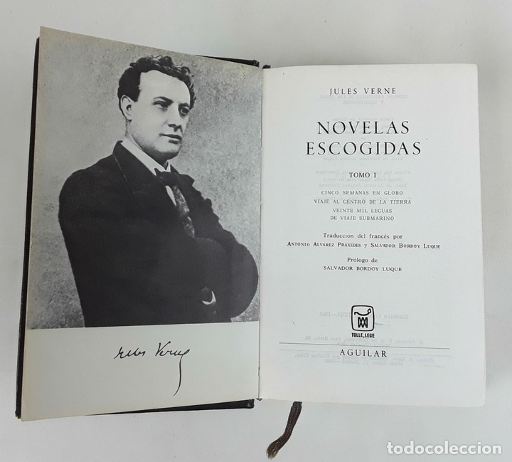 Libros de segunda mano: NOVELAS ESCOGIDAS. JULES VERNE. AGUILAR. 1968. - Foto 2 - 115169003