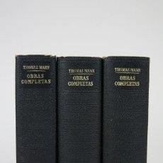 Libros de segunda mano: 3 TOMOS / LIBROS - LOS CLÁSSICOS DEL SIGLO XX / THOMAS MANN - EDITOR. PLAZA & JANÉS - AÑO 1965. Lote 115554963