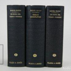 Libros de segunda mano: 3 TOMOS / LIBROS - LOS CLÁSSICOS DEL SIGLO XX / MARCEL PROUST - EDITOR. PLAZA & JANÉS - AÑO 1975. Lote 115556431
