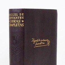 Libros de segunda mano: CERVANTES (MIGUEL DE).– OBRAS COMPLETAS. AGUILAR, 1960. ENCUADERNACIÓN EN PLENA PIEL. Lote 115569535