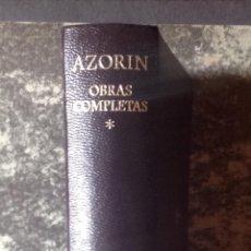 Libros de segunda mano: OBRAS COMPLETAS DE AZORÍN, TOMO I. 1ª ED, 1975, AGUILAR . VELL I BELL. Lote 115574711