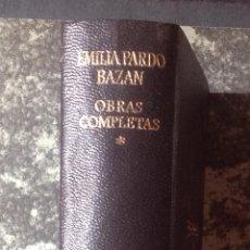 Libros de segunda mano: EMILIA PARDO BAZAN.. OBRAS COMPLETAS. VOL. I. ED, 1973, AGUILAR . VELL I BELL. Lote 115577115