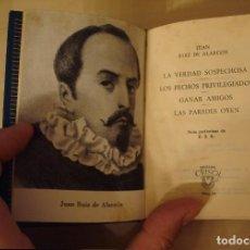 Livres d'occasion: JUAN RUIZ DE ALARCÓN. CUATRO COMEDIAS. AGUILAR. CRISOL 84.. Lote 116136739