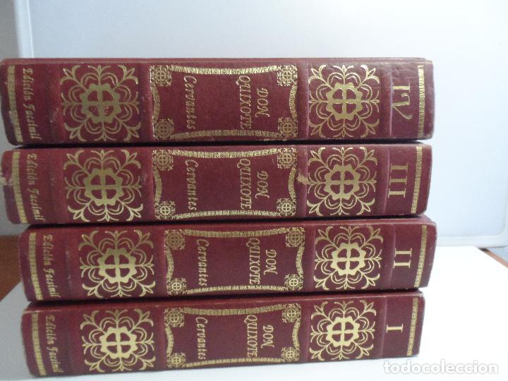 EL INGENIOSO HIDALGO DON QUIXOTE DE LA MANCHA EDICION FACSIMILAR 4 TOMOS (Libros de Segunda Mano (posteriores a 1936) - Literatura - Narrativa - Clásicos)