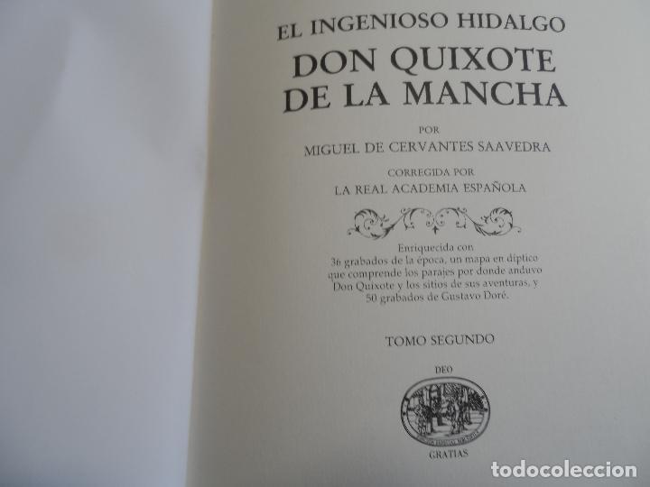 Libros de segunda mano: EL INGENIOSO HIDALGO DON QUIXOTE DE LA MANCHA EDICION FACSIMILAR 4 TOMOS - Foto 4 - 116210891