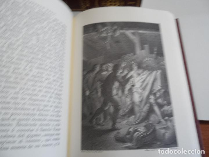 Libros de segunda mano: EL INGENIOSO HIDALGO DON QUIXOTE DE LA MANCHA EDICION FACSIMILAR 4 TOMOS - Foto 6 - 116210891