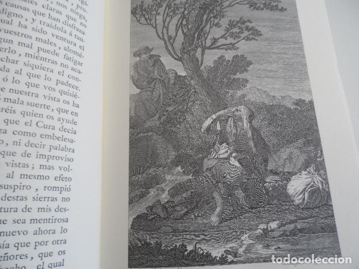 Libros de segunda mano: EL INGENIOSO HIDALGO DON QUIXOTE DE LA MANCHA EDICION FACSIMILAR 4 TOMOS - Foto 8 - 116210891