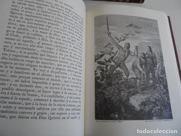 Libros de segunda mano: EL INGENIOSO HIDALGO DON QUIXOTE DE LA MANCHA EDICION FACSIMILAR 4 TOMOS - Foto 9 - 116210891