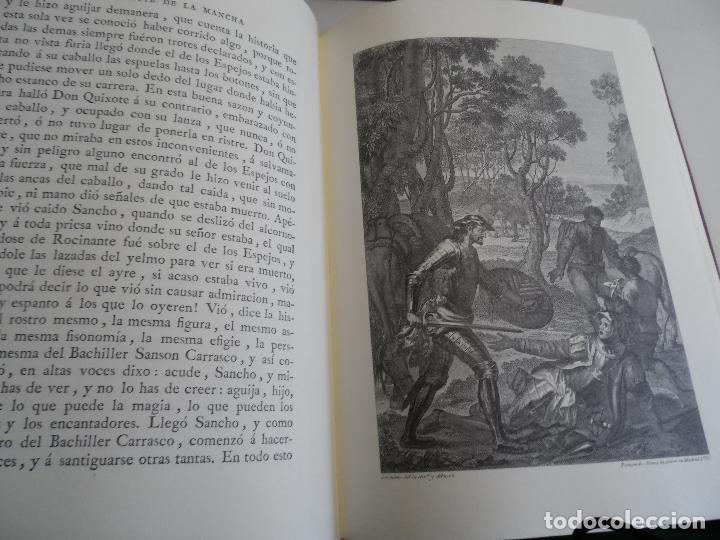 Libros de segunda mano: EL INGENIOSO HIDALGO DON QUIXOTE DE LA MANCHA EDICION FACSIMILAR 4 TOMOS - Foto 10 - 116210891