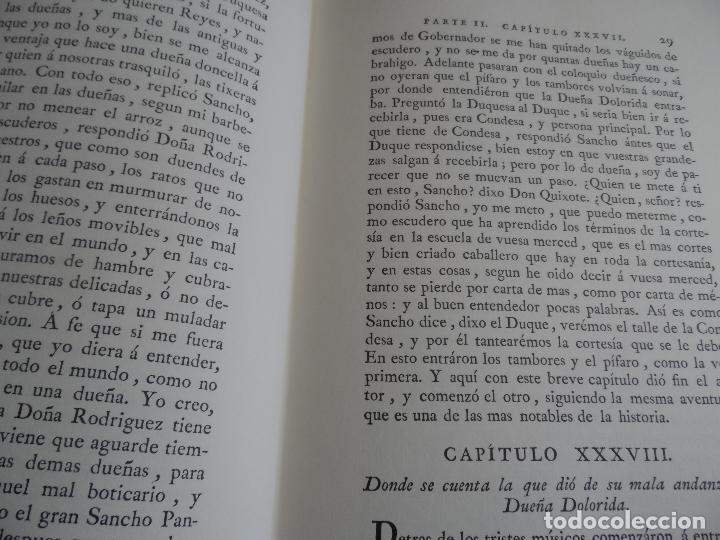Libros de segunda mano: EL INGENIOSO HIDALGO DON QUIXOTE DE LA MANCHA EDICION FACSIMILAR 4 TOMOS - Foto 12 - 116210891
