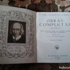 Libros de segunda mano: CALDERON DE LA BARCA. OBRAS COMPLETAS, DRAMAS. AGUILAR, 1941. FATIGADO, DOS HOJAS SUELTAS.. Lote 116268987