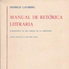 Livros em segunda mão: MANUAL DE RETÓRICA LIITERARIA - EDITORIAL GREDOS 1975. Lote 116473487