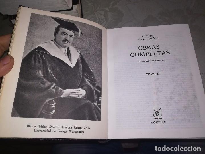 Libros de segunda mano: Obras completas Aguilar Blasco Ibáñez 1,2y3 tomos miren fotos - Foto 8 - 119557115