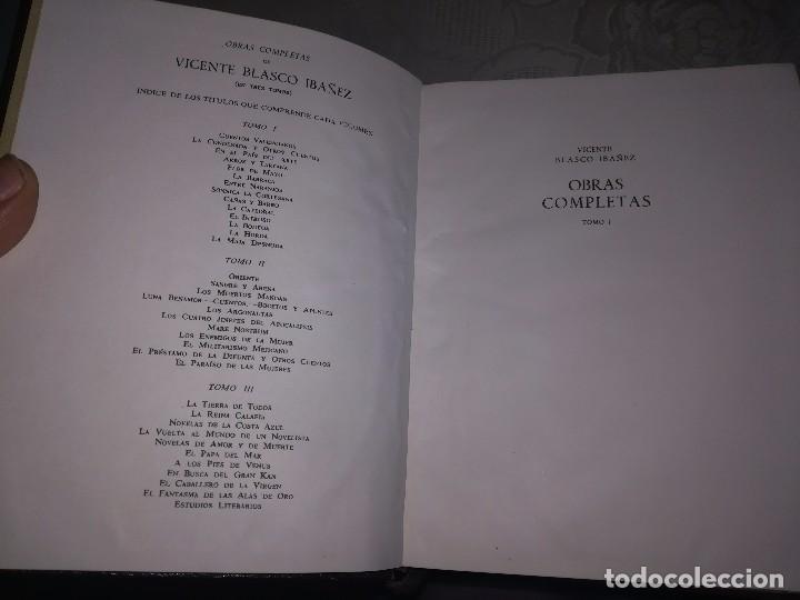 Libros de segunda mano: Obras completas Aguilar Blasco Ibáñez 1,2y3 tomos miren fotos - Foto 14 - 119557115