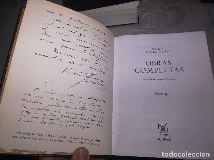 Libros de segunda mano: Obras completas Aguilar Blasco Ibáñez 1,2y3 tomos miren fotos - Foto 15 - 119557115