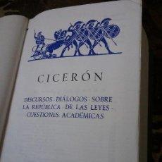 Libros de segunda mano: CICERON - OBRAS - LOS CLASICOS - EDAF, 1967. CON FILO SUPERIOR DORADO. 1.657 PAG.. Lote 119957103