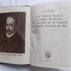 Libros de segunda mano: LIBRERIA GHOTICA. LOPE DE VEGA. CUATRO OBRAS TEATRALES. EDITORIAL AGUILAR. 1944. CRISOL 32. Lote 120047447