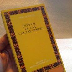 Libros de segunda mano: TIRSO DE MOLINA DON GIL DE LAS CALZAS VERDES CLASICOS CASTALIA DESCATALOGADO. Lote 120102051