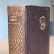 Libros de segunda mano: VIRGILIO - HORACIO - OBRAS COMPLETAS (ED. LORENZO RIBER) - AGUILAR 1941 1ª EDICIÓN. Lote 120348831