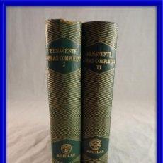 Libros de segunda mano: OBRAS COMPLETAS DE BENAVENTE TOMO I Y 2 EDITA AGUILAR 1956. Lote 120421631