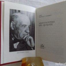 Livres d'occasion: LIBRERIA GHOTICA. LUJOSA ED. AGUILAR DE JOSE ORTEGA Y GASSET. MEDITACIONES DEL QUIJOTE. 1975. Lote 121149911