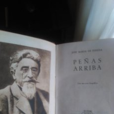Libros de segunda mano: JOSE MARIA DE PEREDA. PEÑAS ARRIBA. 1.946 3ª EDICIÓN. CRISOL AGUILAR Nº 4. Lote 121585411