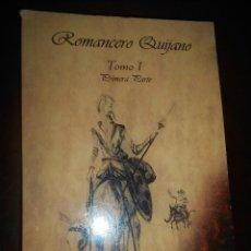 Libros de segunda mano: LIBRO ROMANCERO QUIJANO . Lote 122133659