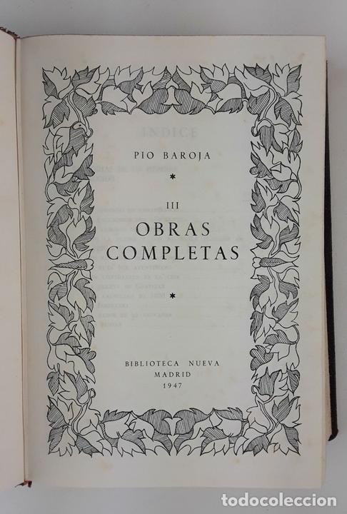 Libros de segunda mano: OBRAS COMPLETAS. PIO BAROJA. 5 TOMOS. BIBLIOTECA NUEVA. MADRID. 1946-1948. - Foto 7 - 122880647