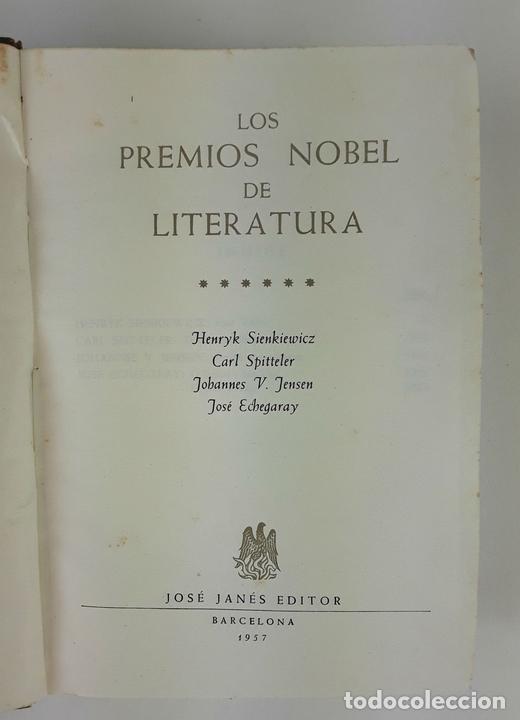 Libros de segunda mano: LOS PREMIOS NOBEL DE LITERATURA. TOMO VI. JOSÉ JANÉS EDITOR. BARCELONA. 1957. - Foto 3 - 123351963