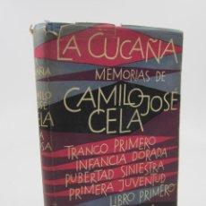 Libros de segunda mano: LA CUCAÑA, MEMORIAS DE CAMILO JOSÉ CELA, EDICIONES DESTINO, 1959, BARCELONA. 15X21,5CM. Lote 124017695