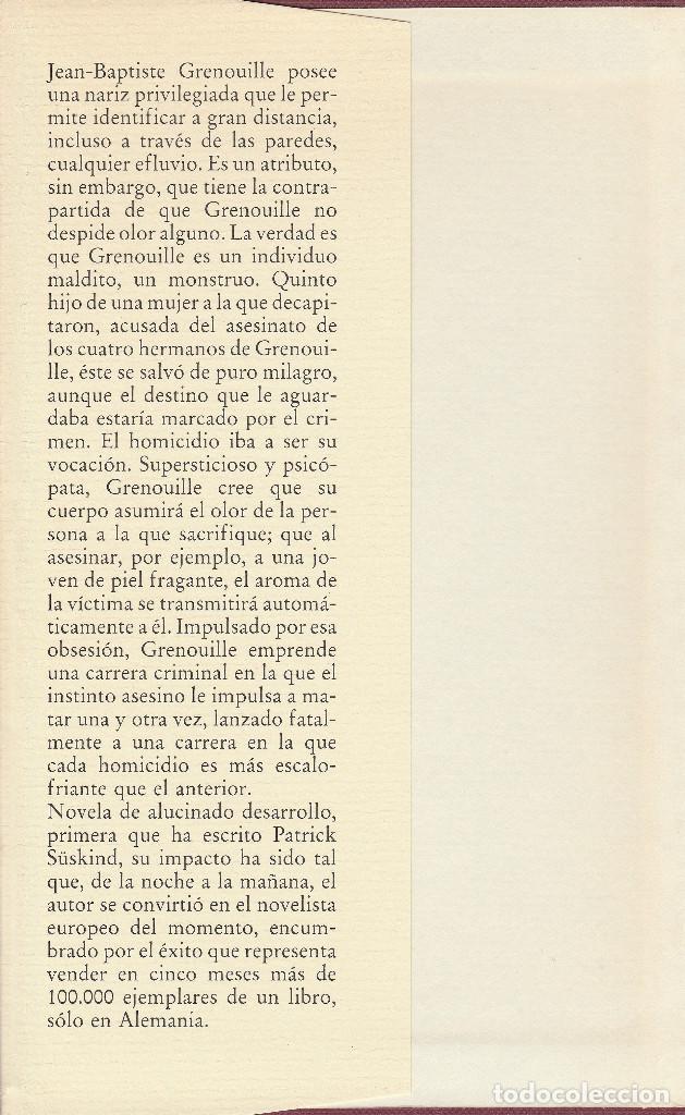 Libros de segunda mano: El perfume (edición de 1985), de Patrick Süskind, editorial Círculo de Lectores. - Foto 3 - 125145911