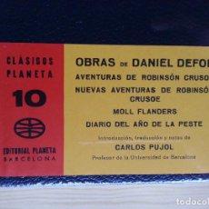 Libros de segunda mano: DANIEL DEFOE: OBRAS (VER DETALLE) - CLÁSICOS PLANETA Nº 10 - NUEVO - PRECINTADO. Lote 125163019
