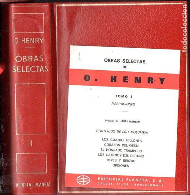 O' HENRY : OBRAS SELECTAS - NARRACIONES (PLANETA, 1971) PLENA PIEL CON ESTUCHE (Libros de Segunda Mano (posteriores a 1936) - Literatura - Narrativa - Clásicos)