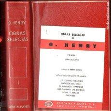Libros de segunda mano: O' HENRY : OBRAS SELECTAS - NARRACIONES (PLANETA, 1971) PLENA PIEL CON ESTUCHE. Lote 125187551