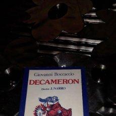 Libros de segunda mano: DECAMERON - GIONANNI BOCCACCIO. Lote 125232671