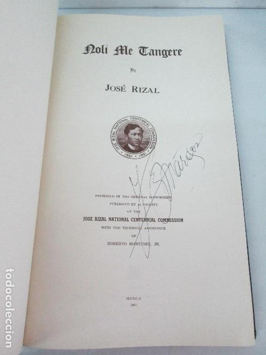 Libros de segunda mano: JOSE RIZAL. EDICION PARA EL MINISTRO GREGORIO LOPEZ BRAVO. EL FILIBUSTERISMO. NOLI ME TANGERE. - Foto 8 - 125292639