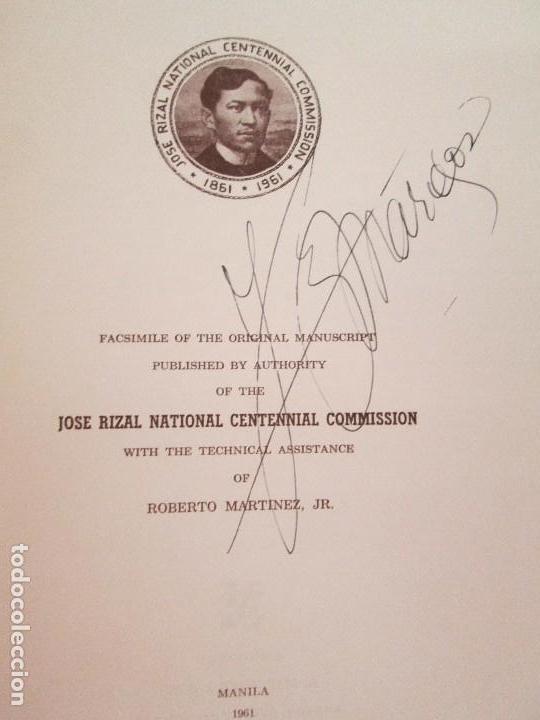 Libros de segunda mano: JOSE RIZAL. EDICION PARA EL MINISTRO GREGORIO LOPEZ BRAVO. EL FILIBUSTERISMO. NOLI ME TANGERE. - Foto 9 - 125292639
