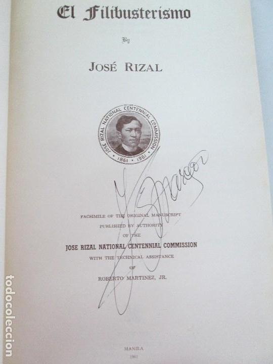Libros de segunda mano: JOSE RIZAL. EDICION PARA EL MINISTRO GREGORIO LOPEZ BRAVO. EL FILIBUSTERISMO. NOLI ME TANGERE. - Foto 37 - 125292639