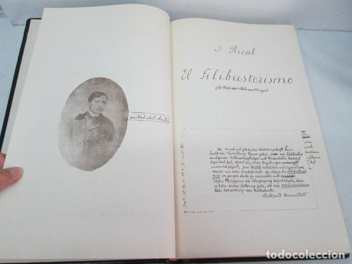 Libros de segunda mano: JOSE RIZAL. EDICION PARA EL MINISTRO GREGORIO LOPEZ BRAVO. EL FILIBUSTERISMO. NOLI ME TANGERE. - Foto 42 - 125292639