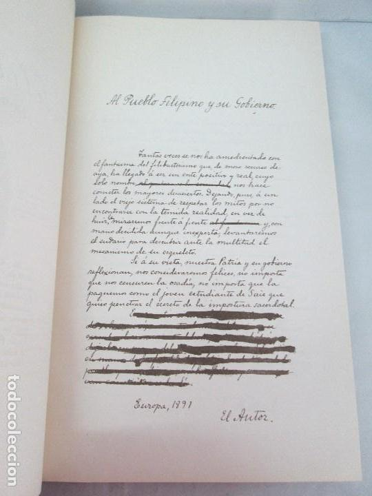 Libros de segunda mano: JOSE RIZAL. EDICION PARA EL MINISTRO GREGORIO LOPEZ BRAVO. EL FILIBUSTERISMO. NOLI ME TANGERE. - Foto 43 - 125292639